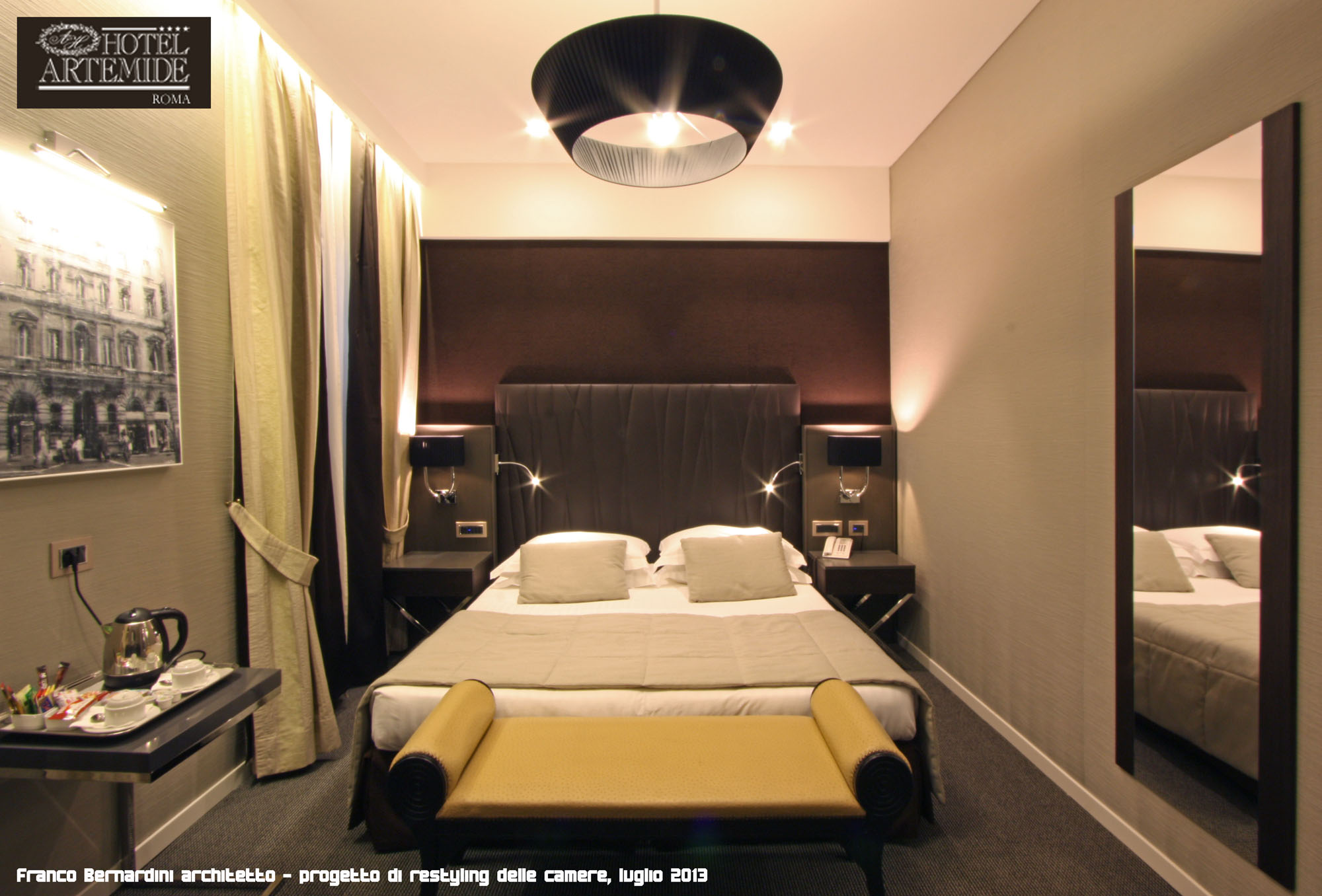 Hotel artemide l roma franco bernardini architetto for Archi arredo roma