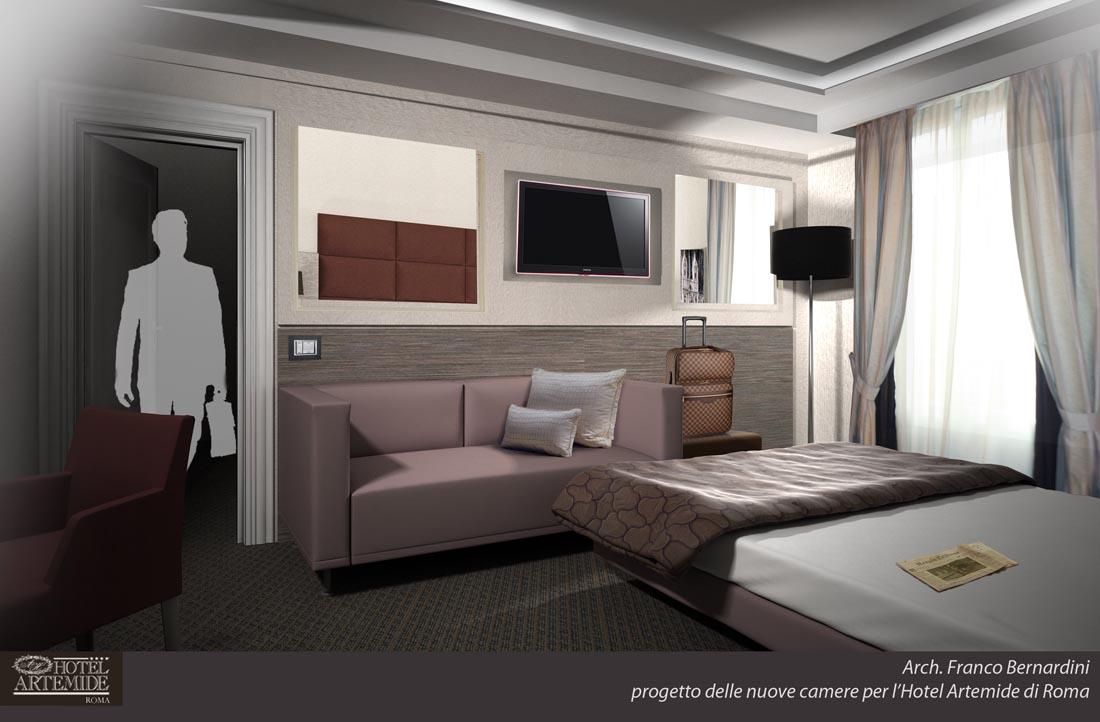 Hotel Artemide camera campione 702 variante