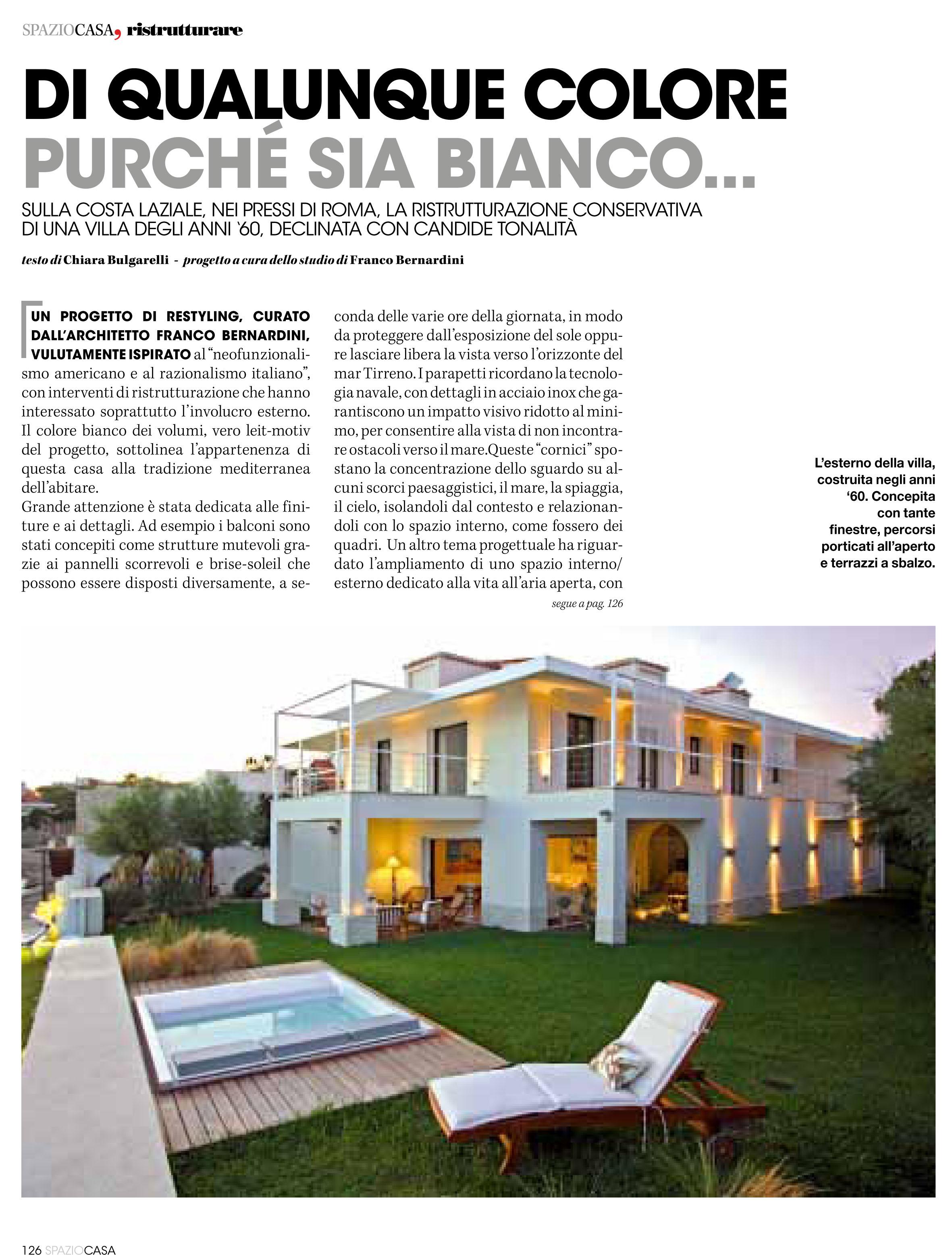 Villa unifamiliare sulla costa laziale roma 2008 09 for Colore esterno casa al mare