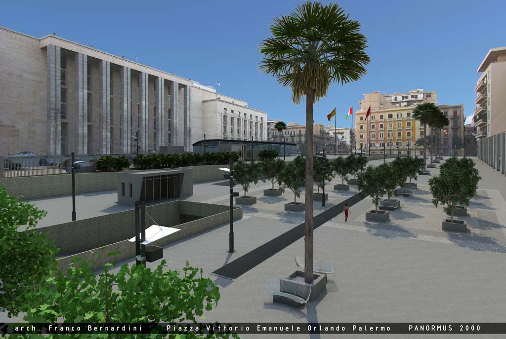 piazza Vittorio Emanuele Orlando, Palermo, 2008  Franco Bernardini architetto