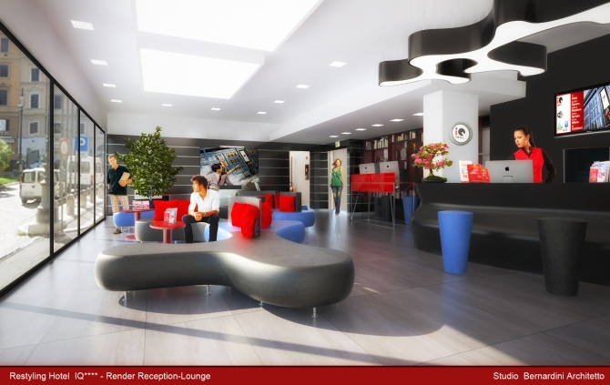 Render HOTEL IQ _ Reception-lounge