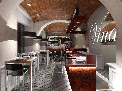 Ristorante enoteca vinarium franco bernardini architetto - Architetto interni roma ...