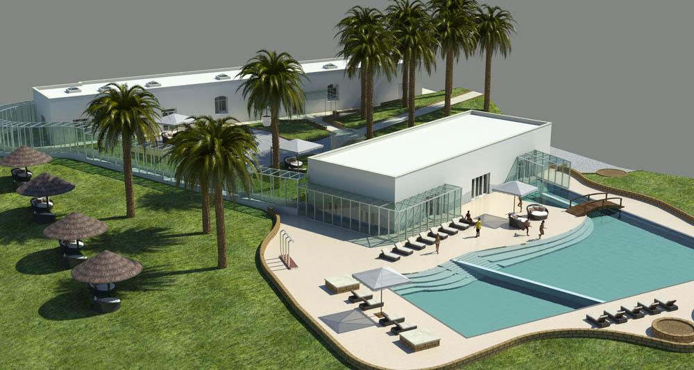 Il centro benessere della piscina termale di Agnano