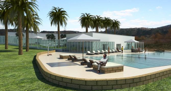 Progetto di completamento e arredamento delle terme di agnano franco bernardini architetto - Hotel con piscine termali all aperto ...