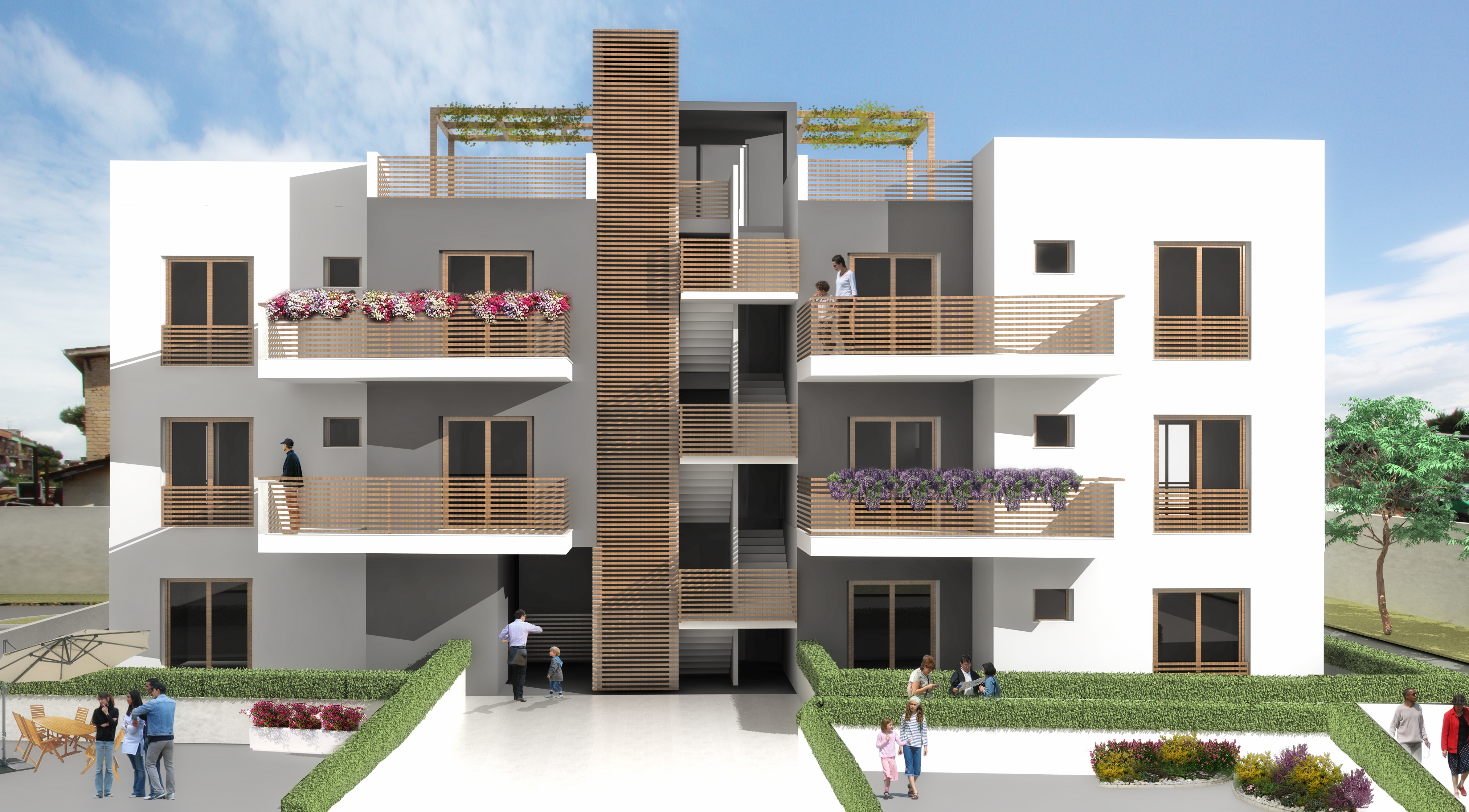 Torrenova 100 franco bernardini architetto for Rendering case moderne