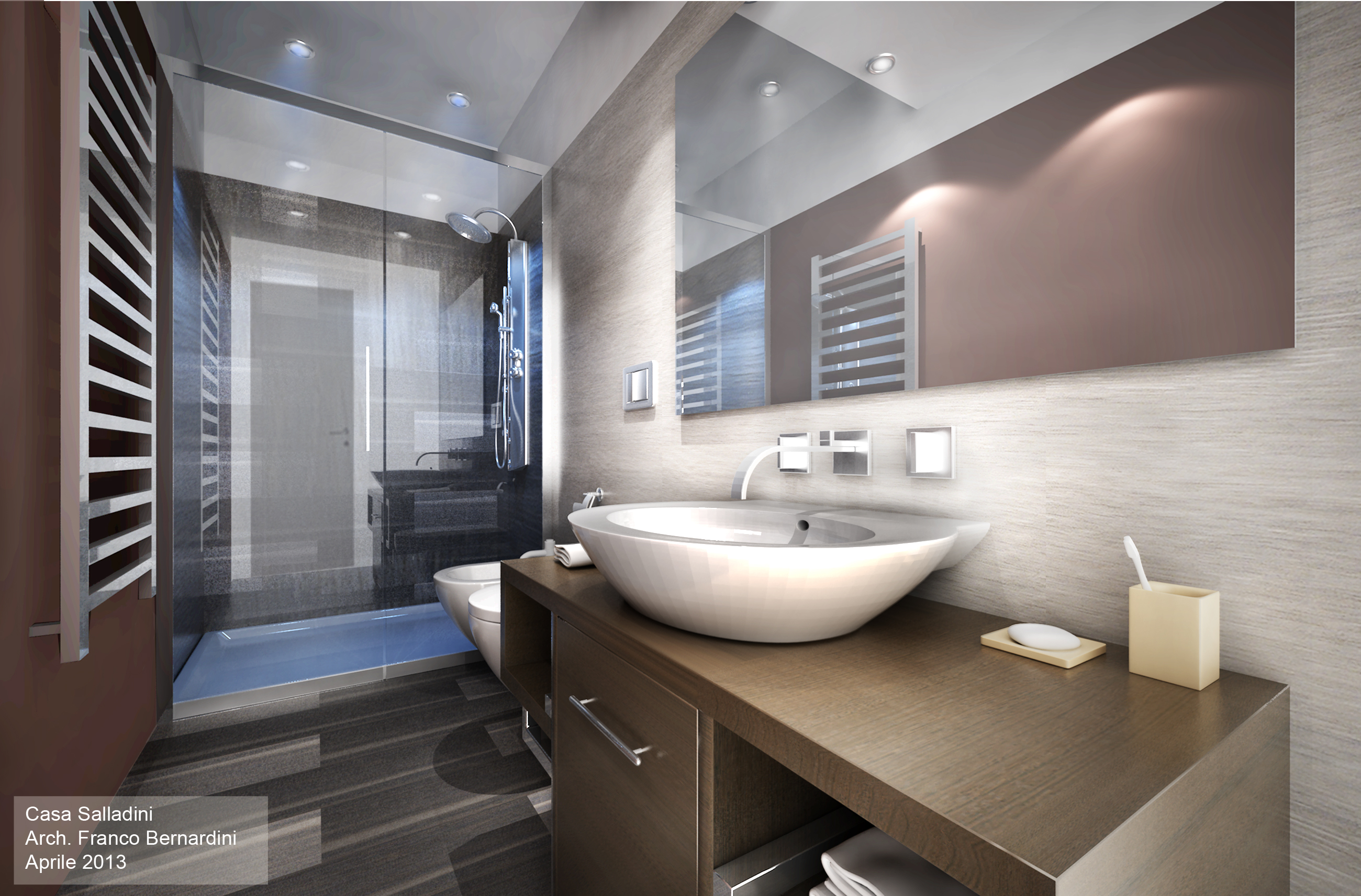1 casa salladini render bagno for Architetto interni roma