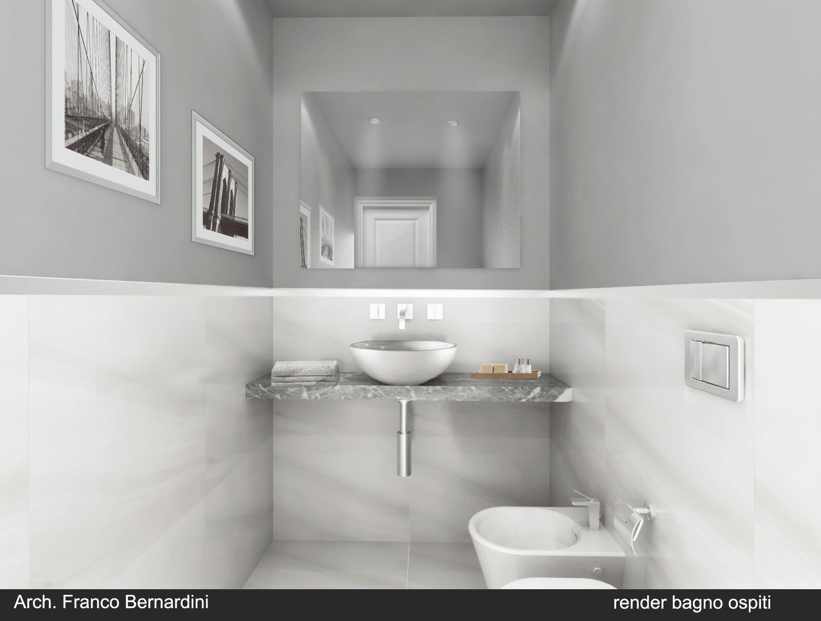 Appartamento franco bernardini architetto - Rendering bagno ...