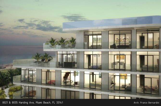 Sea moon complesso immobiliare a miami beach franco for Architettura residenziale contemporanea